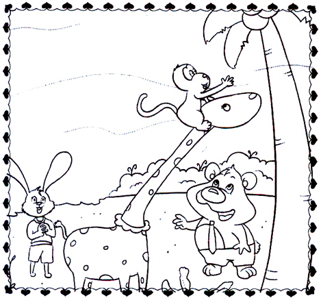 二年级作文上看图说话秋天小熊扫地